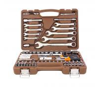 Набор инструмента  82 предмета ключи комбинированных 8-22 мм и торцевые головки 4-32мм 055014